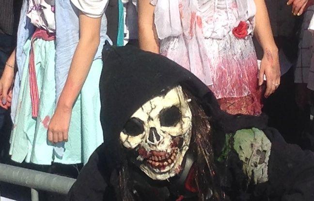 Un zombie à l'article de la mort.