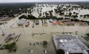 Après le passage de la tempête Harvey, la ville de Houston est plongée sous les eaux, le 29 août 2017.
