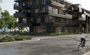 Un exemple de ce  à quoi pourrait ressembler l'immeuble de logements construit par le promoteur Quartus.