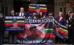 Les soutiens du sergent Alexander Blackman, alias «Marine A».