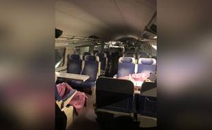 Les passagers d'un TGV Marseille-Paris ont dû dormir dans le train en gare de Lyon-Perrache dans la nuit du 7 au 8 mars 2019 à cause d'un problème technique.
