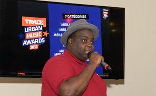 Issa Doumbia, à la conf de presse des Trace Urban Music Awards.