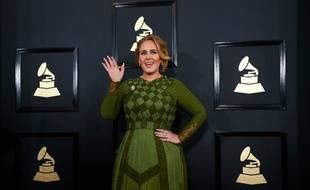 La chanteuse Adele aux 59e Grammy Awards
