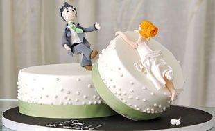 Photo d'illustration. Un «gâteau de divorce» imaginé par une pâtissière de Brighton (Angleterre).