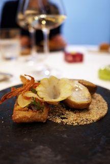 Le cèpe et sa déclinaison de patate douce au restaurant Etude