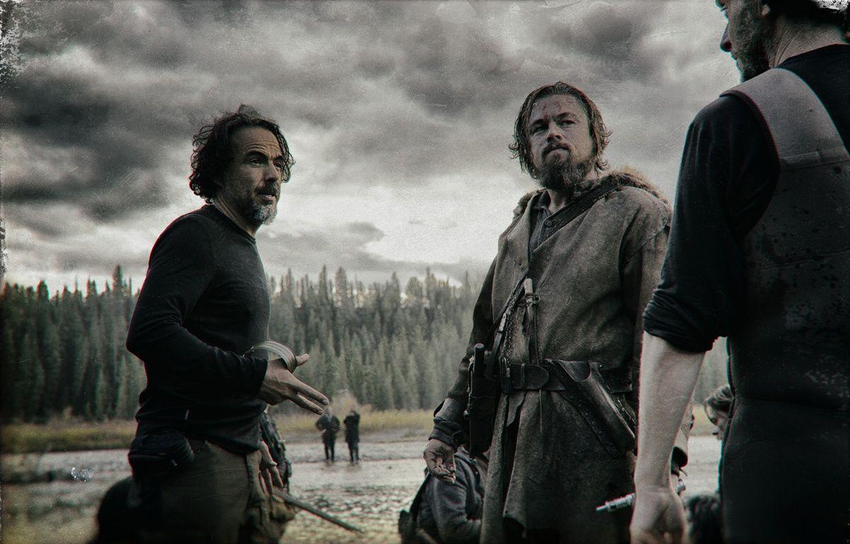 Alejandro González Iñárritu et Leonardo DiCaprio sur le tournage deThe Revenant – 20th Century Fox