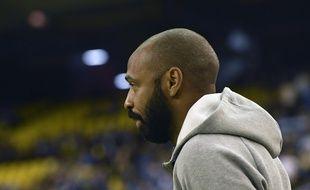 Thierry Henry, coach de l'Impact Montreal, lors d'un match contre New England Revolution en MLS, le 29 février 2020.