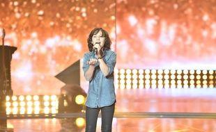 Léo Rispal lors de la première émission de Rising Star le 25 septembre 2014
