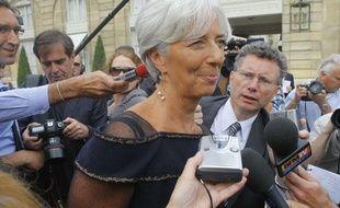 Christine Lagarde, à la sortie de son dernier Conseil des ministres à l'Elysée le 29 juin 2011, au lendemain de sa nomination à la tête du Fonds monétaire international.