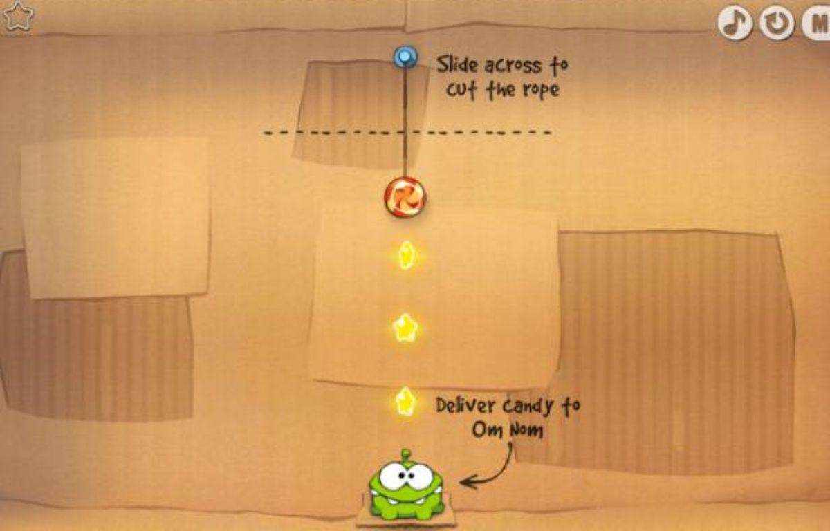 Le jeu Cut the rope fait un carton sur smartphone. – CAPTURE D'ECRAN / 20 MINUTES