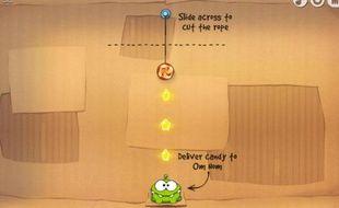 Le jeu Cut the rope fait un carton sur smartphone.