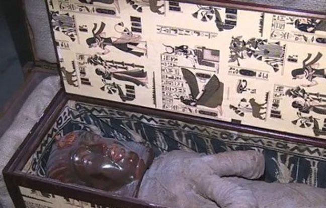 Une famille allemande a découvert une momie dans le grenier de la grand-mère, à Diepholz, en août 2013.