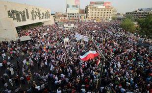 Marche contre la corruption et les défaillances des services pbliques irakiens, le 7 août 2015 à Bagdad