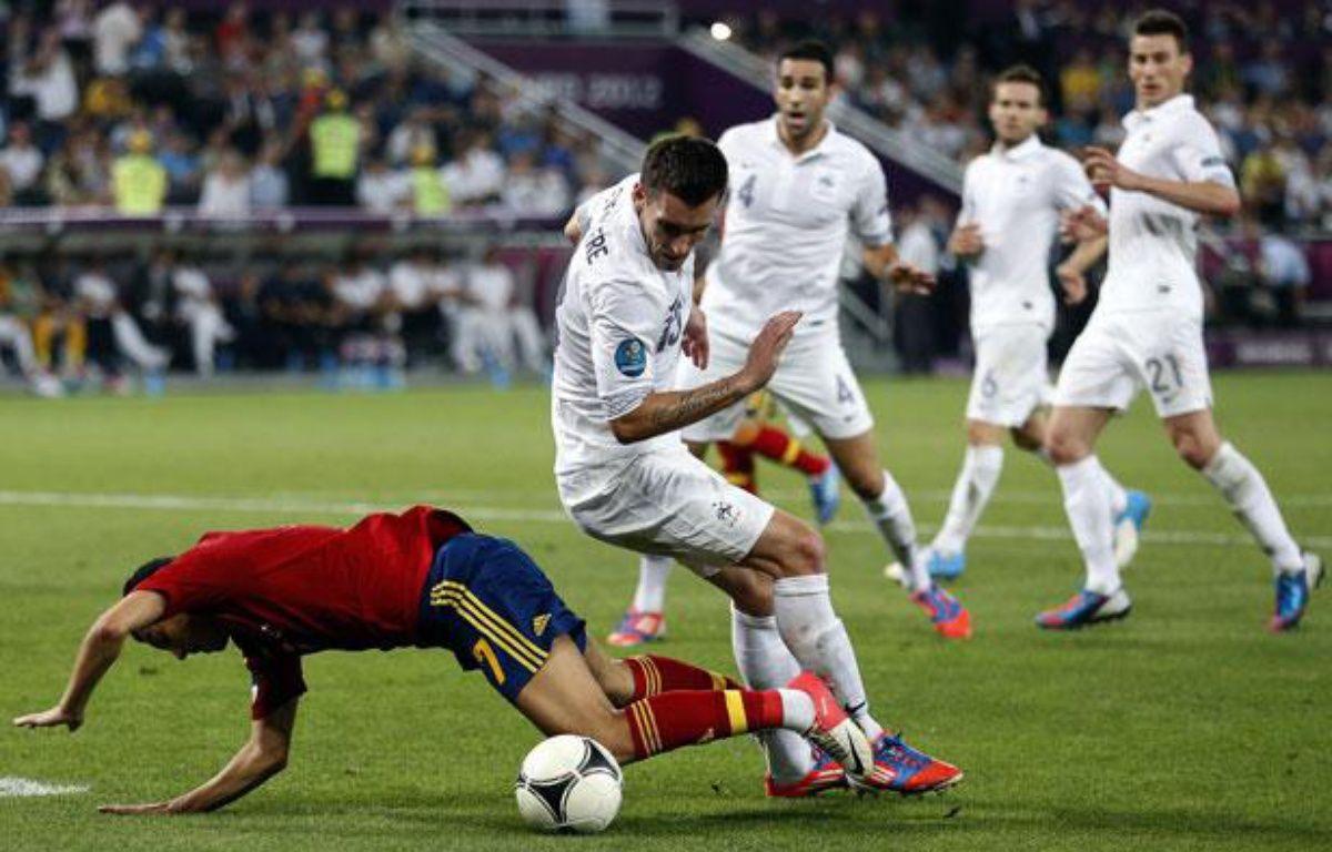 La défense des Bleus face à l'Espagne, le 23 juin 2012 – V.FEDOSENKO/REUTERS