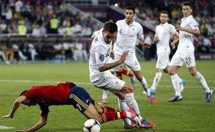 La défense des Bleus face à l'Espagne, le 23 juin 2012