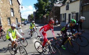 Romain Hardy de l'équipe Cofidis a participé à la reconnaissance de l'étape.