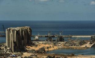 Le port de Beyrouth, après l'explosion d'août