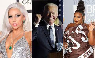 Lady Gaga, Joe Biden et Lizzo