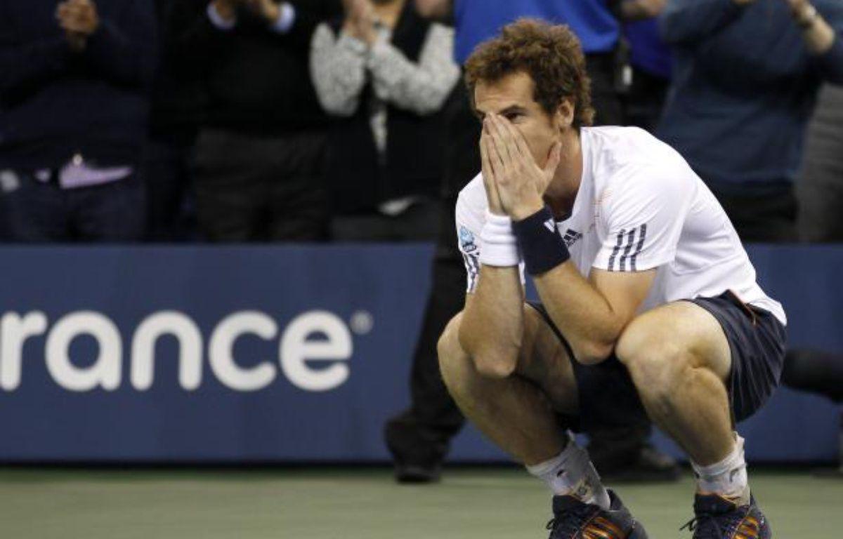 Le tennisman britannique Andy Murray, lors de sa victoire contre Novak Djokovic en finale de l'US Open, le 11 septembre 2012. – REUTERS