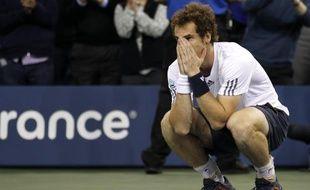 Le tennisman britannique Andy Murray, lors de sa victoire contre Novak Djokovic en finale de l'US Open, le 11 septembre 2012.