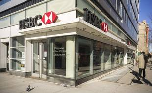 Illustration d'une banque HSBC
