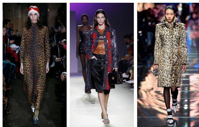 Des looks issus des collection Printemps-été 2019 (Gucci/Versace/Balenciaga).