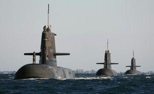 Photo fournie par la marine australienne de sous-marins Collins, le 22 mars 2015 près de Rockingham en Australie