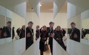 Lyon, le 8 mars 2016 Le musée d'art contemporain de Lyon consacre pour la première fois en France, une rétrospective des oeuvres de Yoko Ono. (du 9 mars au 10 juillet 2016)
