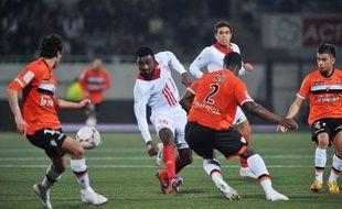 Salomon Kalou lors du match entre Lorient et Lille le vendredi 16 novembre 2012.