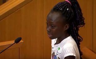 Lundi 26 septembre 2016, Zianna Oliphant, âgée de 9 ans, a décidé de parler au nom de la communauté noire de Charlotte (Etats-Unis) lors d'une réunion avec le conseil municipal.