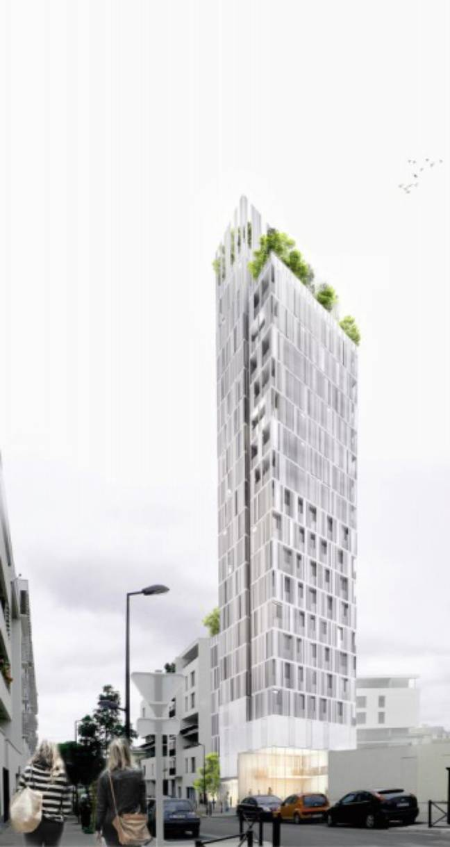 Le projet de Tour Saint-Jean, par l'architecte Jacques Ferrier