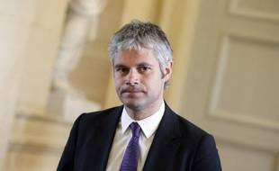 Laurent Wauquiez arrive à l'Assemblée nationale à Paris, le 3 avril 2013
