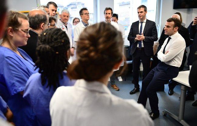 Coronavirus: «Le virus circule déjà parmi nous», annonce un médecin lors d'une visite de Macron à l'hôpital