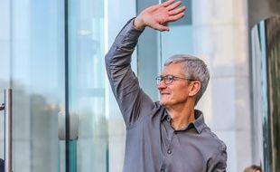 Tim Cook, le PDG d'Apple (illustration)