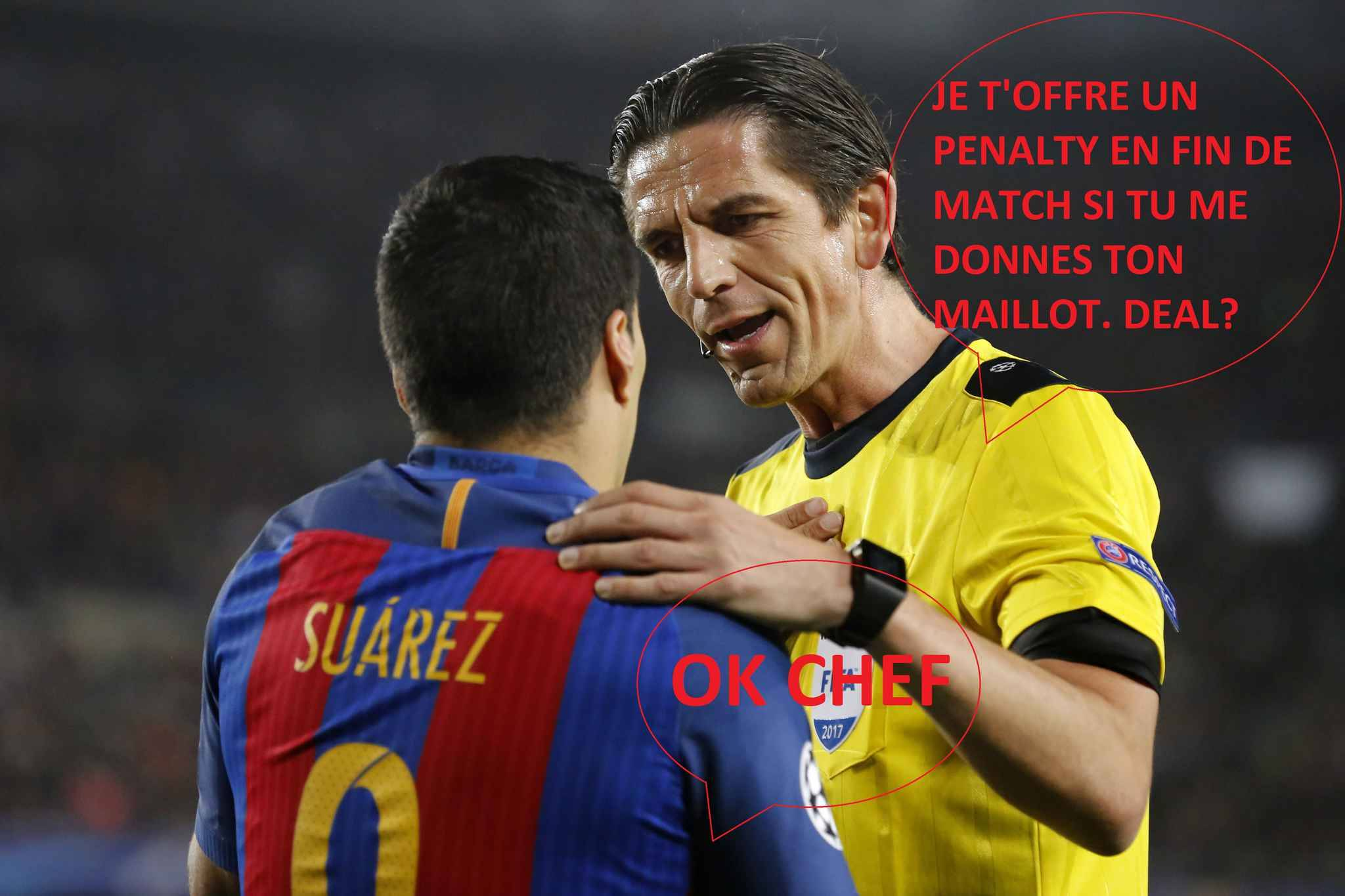 L'arbitre de Barcelone-PSG ne sera pas suspendu