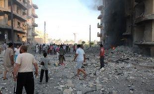 La ville détruite de Raqqa, bastion de Daesh en Syrie.