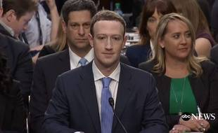 Mark Zuckerberg devant le Congrès le 10 avril 2018.