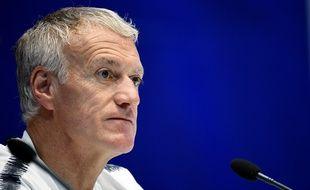 Didier Deschamps en conférence de presse la veille du match Andorre-France, le 10 juin 2019.