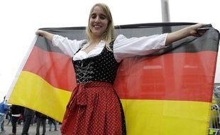 Une supporter allemande lors de la Coupe du monde de football en juin 2014 au Brésil.