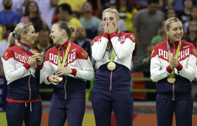 Les handballeuses russes sur le podium à Rio