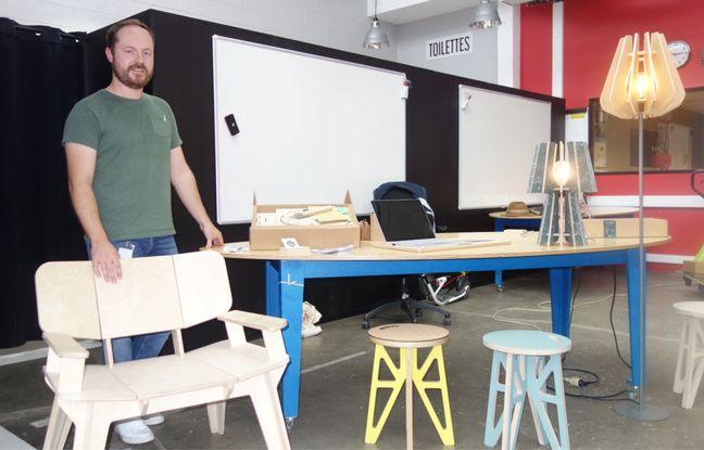 Lille: Il fabrique du mobilier en kit original et éco-responsable