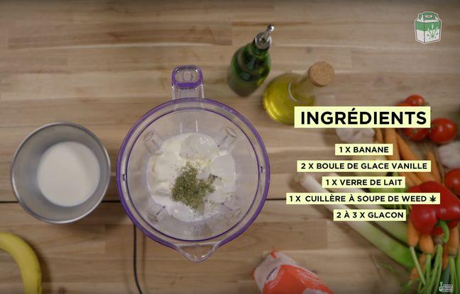 Les ingrédients pour le space milk shake.