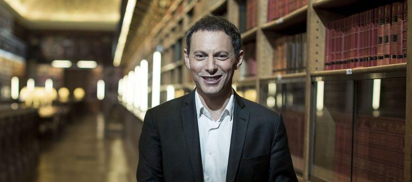 Marc-Olivier Fogiel en marge du tournage de l'émission «Livres & Vous» de Public Sénat dont il était l'invité en décembre 2018.