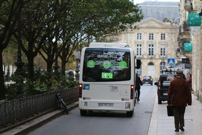 Un minibus à Bordeaux (illustration).