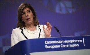 La commissaire européenne à la Santé, Stella Kyriakide, à Bruxelles, le 15 juillet 2020.