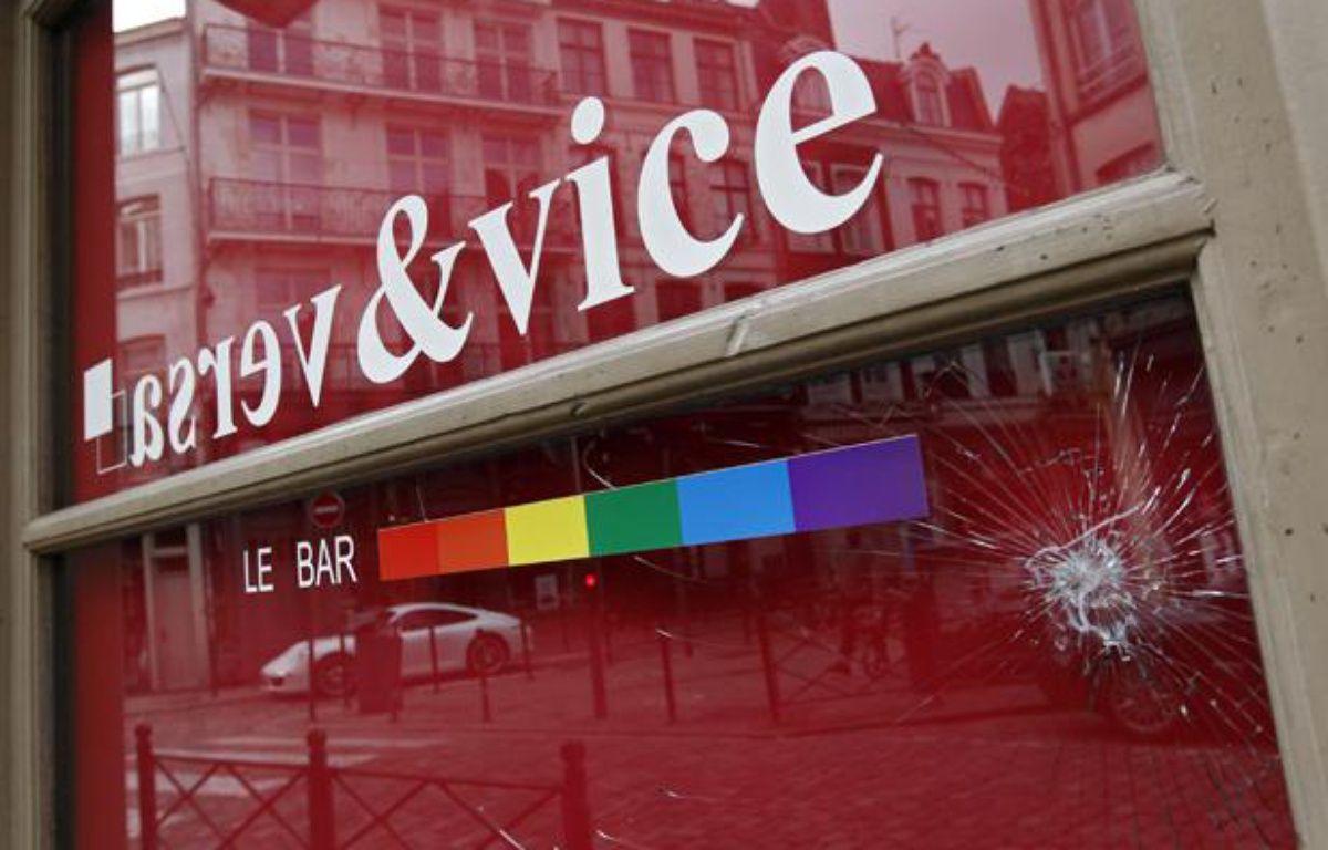 Le Vice & Versa, un bar gay à Lille, a été saccagé dans la soirée du 17 avril 2013. – M. LIBERT / 20 MINUTES