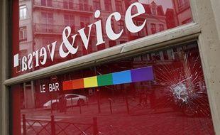Le Vice & Versa, un bar gay à Lille, a été saccagé dans la soirée du 17 avril 2013.