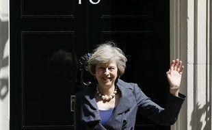 La future Première ministre britannique Theresa May, le 12 juillet 2016 devant le 10 Downing Street à Londres (Angleterre).