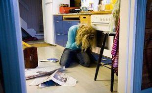 Une femme victime de violences.