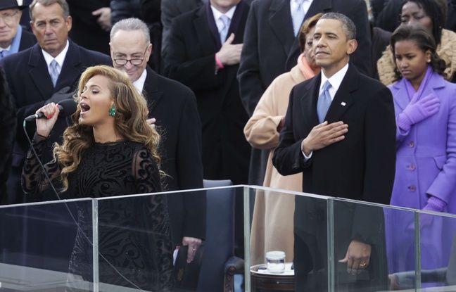 Beyoncé lors de la cérémonie d'investiture de Barack Obama.